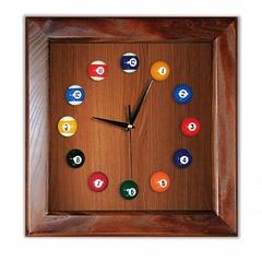 Часы бильярдные Квадрат (ясень/шпон)