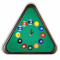 """Часы бильярдные """"Треугольник II"""""""