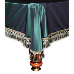 Покрывало Венеция шёлк темное зеленое