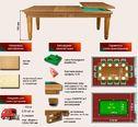 Бильярд-обеденный стол Эльзас-2 (трансформер)